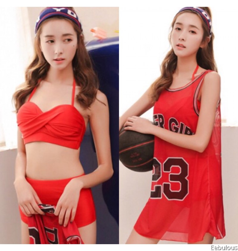 B270 3 PIECES SWIMWEAR WITH OUTER COVER