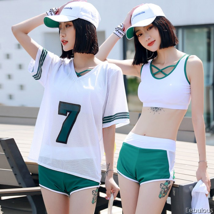 B308 3 PIECES SWIMWEAR WITH OUTER SHIRT