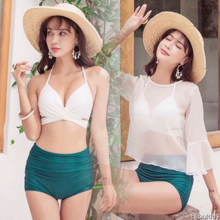 B119 3 PIECES SWIMWEAR WITH OUTER SHIRT