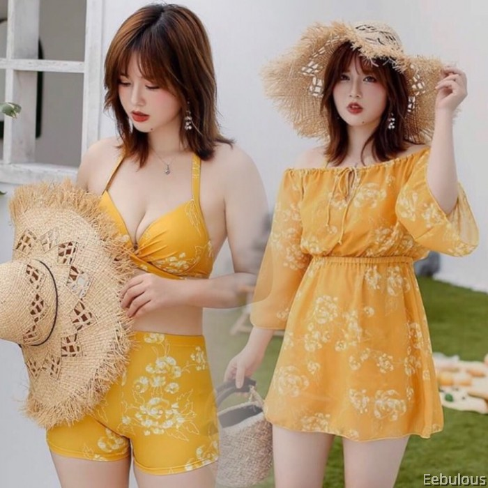 B113 [49KG - 99KG] 3 PIECES SWIMWEAR WITH OUTER DRESS