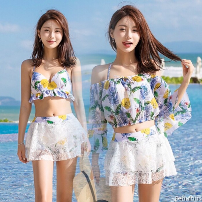 B143 3 PIECES SWIMWEAR WITH OUTER SHIRT