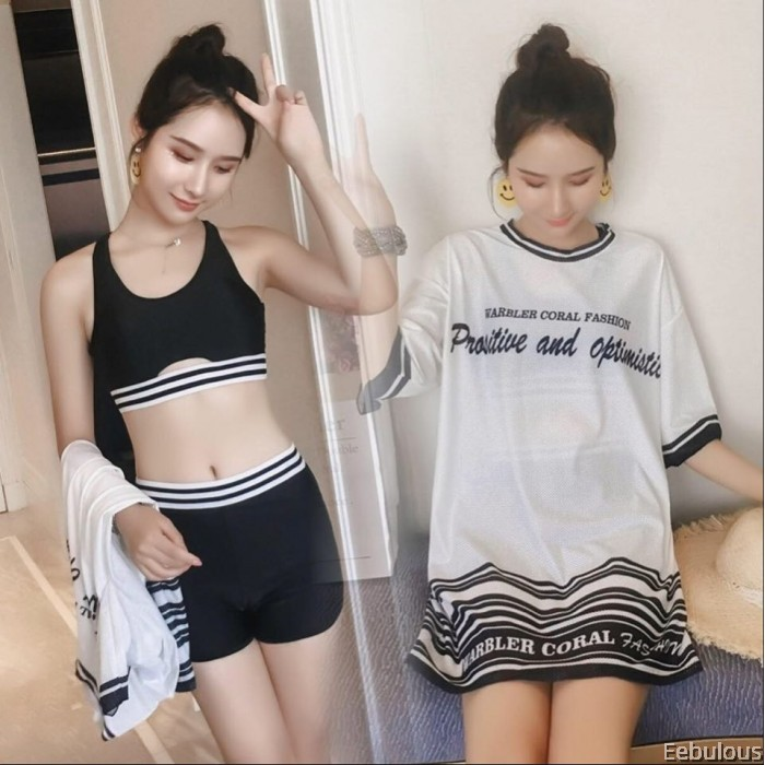 B193 3 PIECES SWIMWEAR WITH OUTER SHIRT